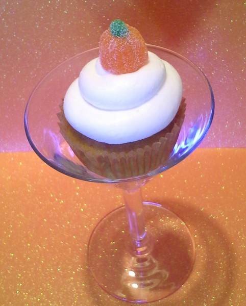 Pumpkin Martini Alcoholic Cupcakes by Wasted Desserts