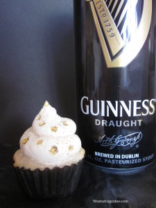 Guinness Beer Alcoholic Cupcakes by Wasted Desserts