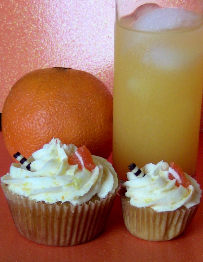 Screw Driver Alcoholic Cupcakes by Wasted Desserts