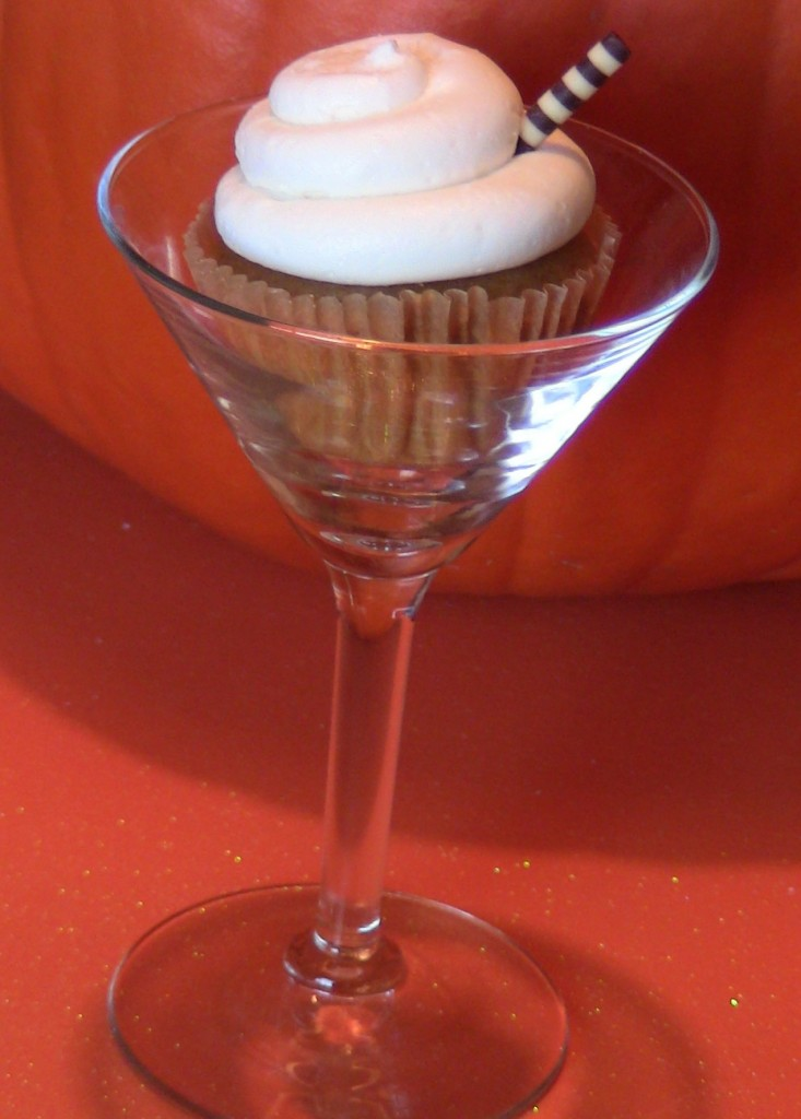 Pumpkin Pie Alcoholic Cupcakes by Wasted Desserts
