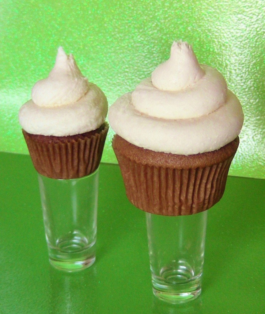 Flaming Irish Orgasm Alcoholic Cupcakes by Wasted Desserts
