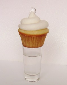 Vanilla Tequila Alcoholic Cupcakes by Wasted Desserts