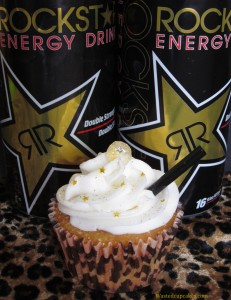 Vodka Rockstar Alcoholic Cupcakes by Wasted Desserts