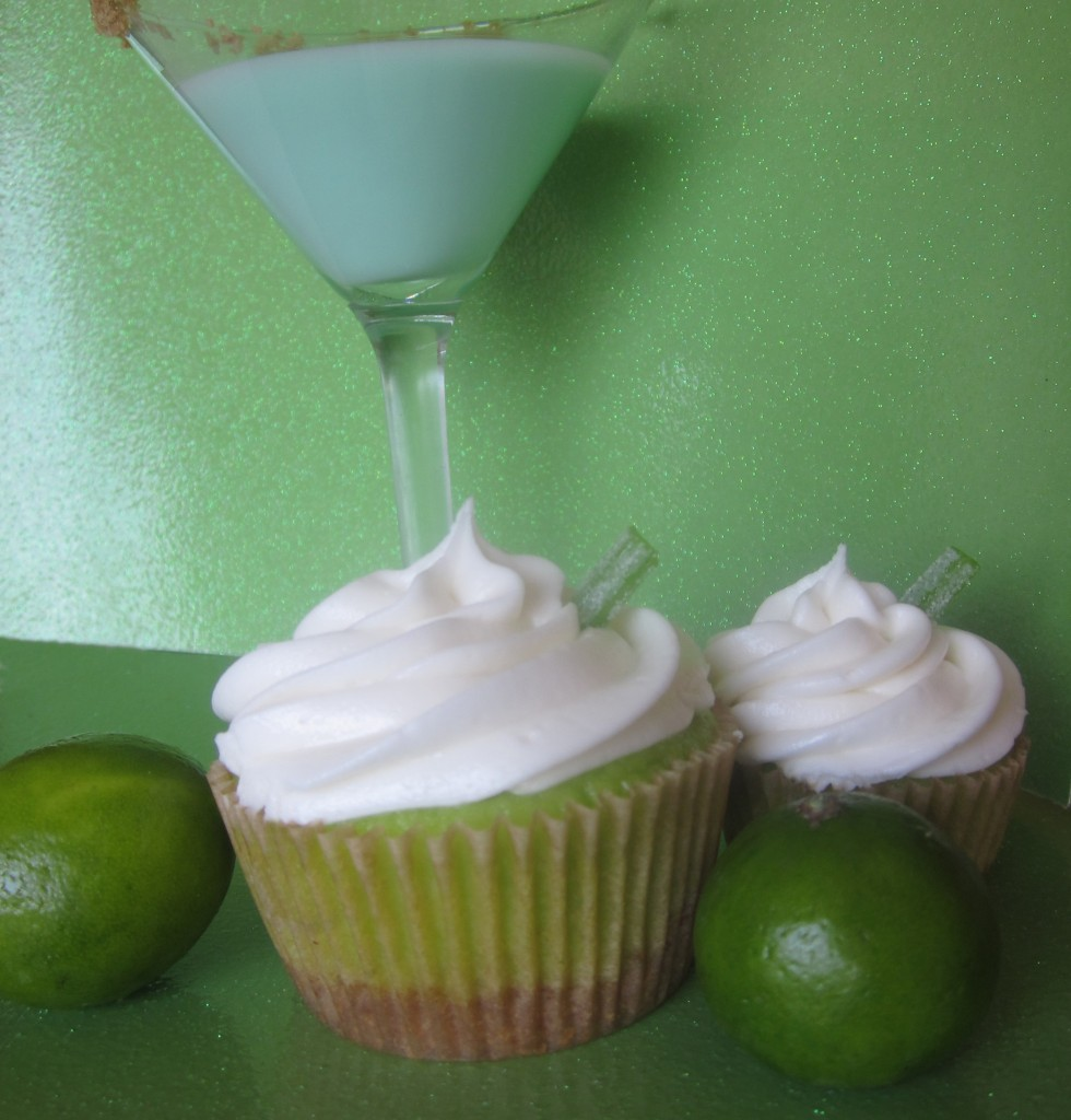 Keylime Pie Martini Alcoholic Cupcakes by Wasted Desserts