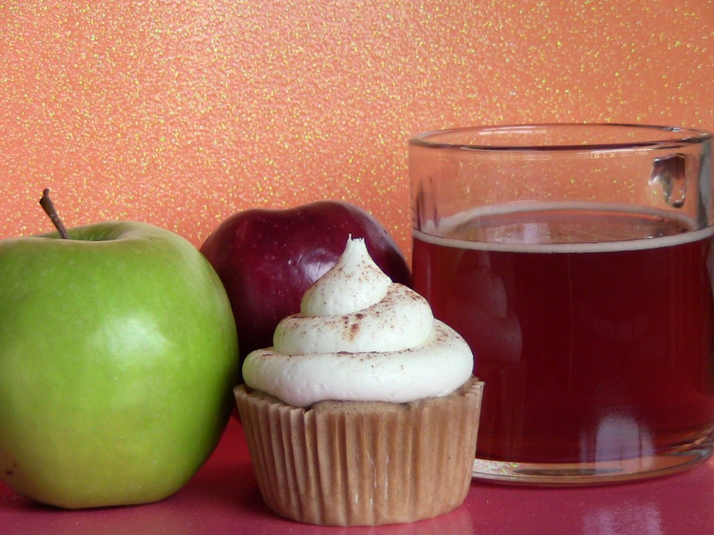 Spiked Apple Cider Alcoholic Cupcakes by Wasted Desserts