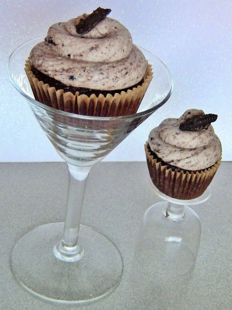 Cookies and Cream Martini Alcoholic Cupcakes by Wasted Desserts