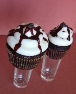 Dirty Sanchez Alcoholic Cupcakes by Wasted Desserts