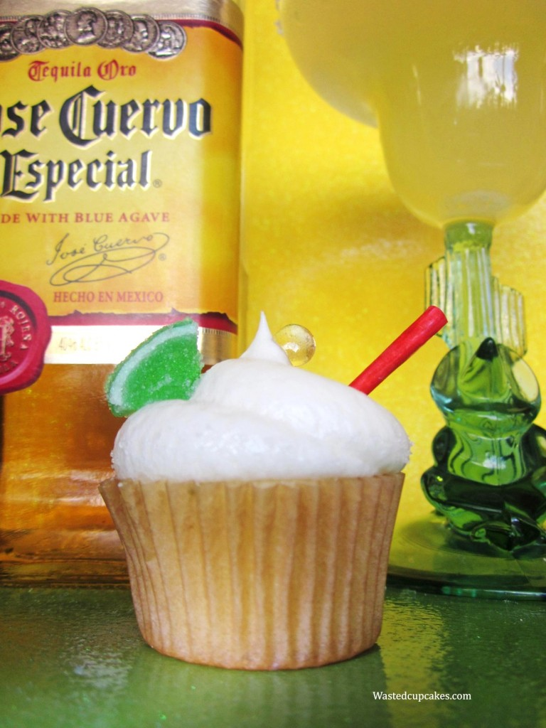 Wasted Desserts Margarita Alcoholic Cupcakes made with tequila and triple sec.