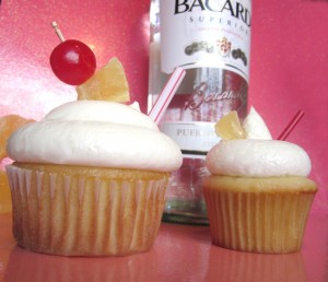Pina Colada Rum Alcoholic Cupcakes by Wasted Desserts