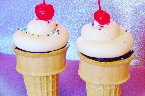 Cupcake cones dessert for kids birthday parties